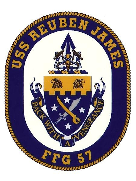 USS Reuben James DD-245 Coat of Arms